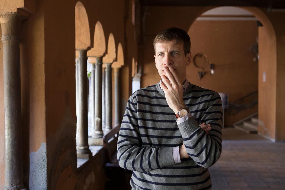 Rome, Italy, March 31, 2017. Francesco Troccoli, 48, writer and translator, lives in Rome. <br /><br />Roma, Italia, 31 marzo 2017. Francesco Troccoli, 48 anni, scrittore e traduttore, vive a Roma.