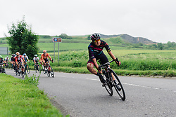 Barbara Guarischi leads the peloton on the approach to Buxton at Aviva Women's Tour 2016 - Stage 3. A 109.6 km road race from Ashbourne to Chesterfield, UK on June 17th 2016.