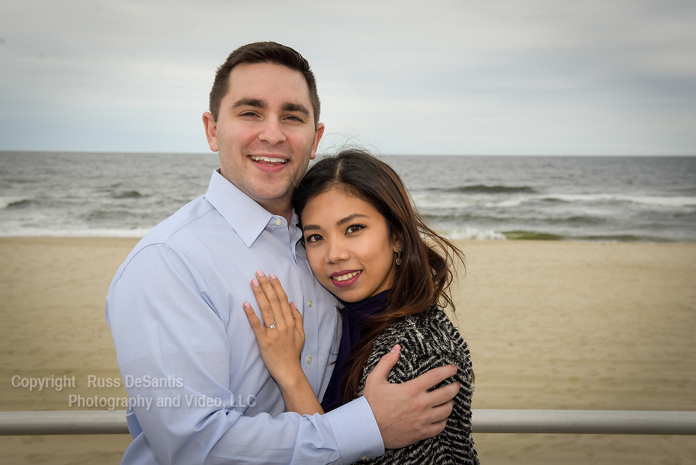 Preston Cutler proposed to his girlfriend Hanna in a gazebo on the boardwalk in Spring Lake, NJ, on Saturday, May 20, 2017. / Russ DeSantis Photography and Video, LLC