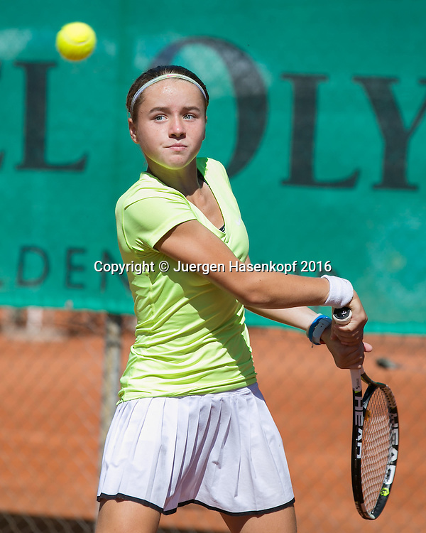 Tennis Europe-Bavarian Junior Open, Finale GS14, Viktoriya Kanapatskaya (BLR)<br /> <br /> Tennis - Bavarian Junior Open 2016 - Tennis Europe Junior Tour -  SC Eching - Eching - Bayern - Germany  - 13 August 2016. <br /> &copy; Juergen Hasenkopf