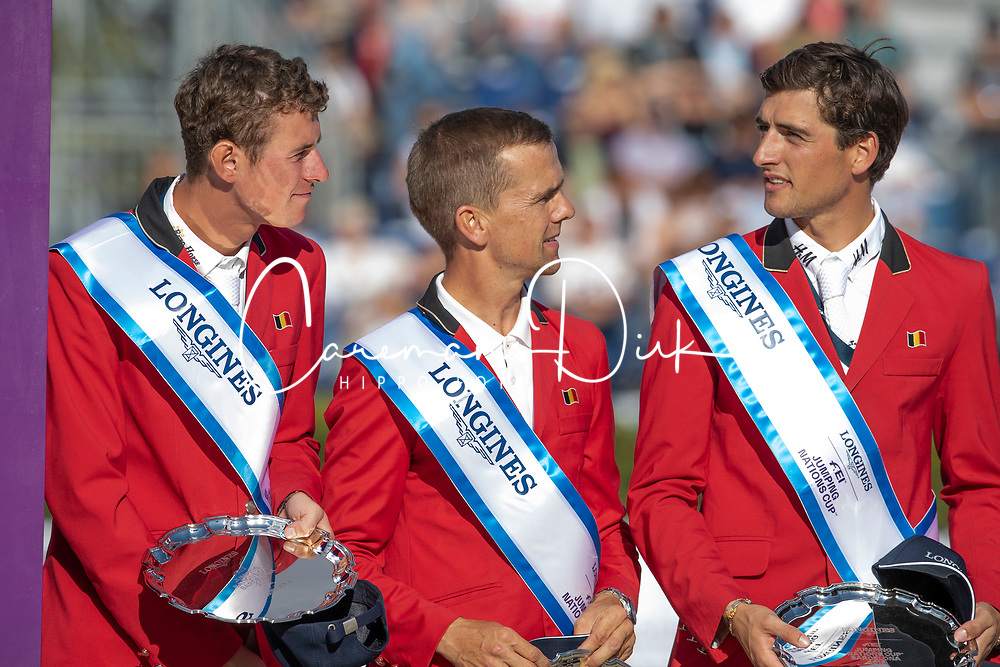 Verlooy Jos, BEL, Vermeir Wilm, BEL, Philippaerts Nicola, BEL<br /> Longines FEI Jumping Nations Cup™ Final<br /> Barcelona 20128<br /> © Hippo Foto - Dirk Caremans<br /> 07/10/2018