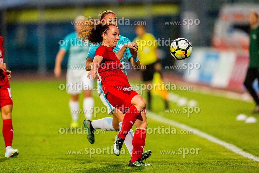 during football match between Slovenia and Czech Republic in Womens Qualifications for World Championship 2019, on October 20, 2017 in Stadion Domzale, Domzale, Slovenia. Photo by Ziga Zupan / Sportida