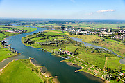 Nederland, Gelderland, Wageningen, 30-09-2015; Neder-Rijn ter hoogte van Wageningen. Bovenste Polder onder Wageningen met hoogwatergeul.<br /> River polder  with flood channel.<br /> luchtfoto (toeslag op standard tarieven);<br /> aerial photo (additional fee required);<br /> copyright foto/photo Siebe Swart