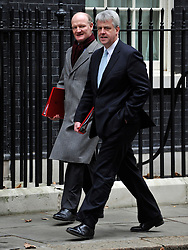 © Licensed to London News Pictures. 29/11/2011, London, UK. DAVID WILLETTS ANDANDREW LANSLEY. Members of the Conservative Cabinet arriving for a Cabinet Meeting in Downing Street today 29 November 2011.  Photo credit : Stephen Simpson/LNP