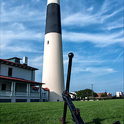 Absecon Lighthouse - Atlantic City Landmark - 3rd tallest in United States, restored historic landmark originally built in 1857, this towering lighthouse rises 150 feet and is recognized by its red middle band.