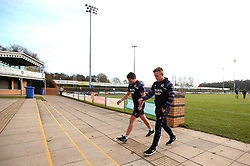 Ian Madigan of Bristol Rugby and Rhodri Williams of Bristol Rugby arrive at Castle Park, for the fixture against Doncaster Knights - Mandatory by-line: Robbie Stephenson/JMP - 02/12/2017 - RUGBY - Castle Park - Doncaster, England - Doncaster Knights v Bristol Rugby - Greene King IPA Championship