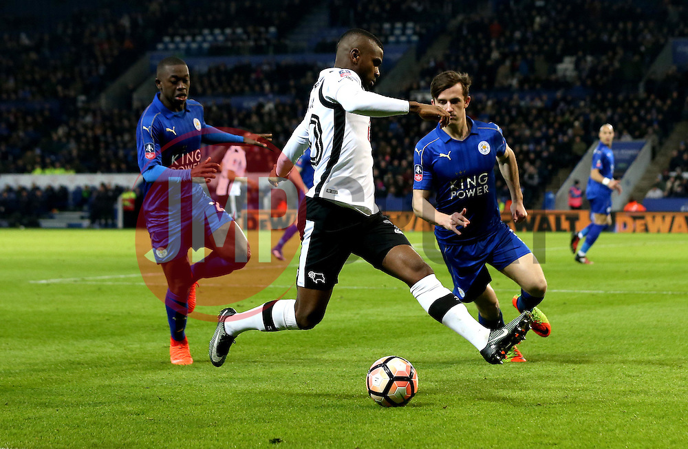 Abdoul Razzagui Camara of Derby County runs with the ball - Mandatory by-line: Robbie Stephenson/JMP - 08/02/2017 - FOOTBALL - King Power Stadium - Leicester, England - Leicester City v Derby County - Emirates FA Cup fourth round replay
