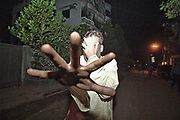 A group of former and in-service senior civil servents, who joined a secret meeting hosted by former energy adviser Mahmudur  Rahman at his Uttra business office on nighr. One's  tries to hide his face. The incident as a part of a possible attempt to election engineering. Uttra,Dhaka 24 October,2006