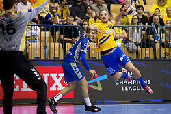 Gal Marguc of RK Celje Pivovarna Lasko during handball match between RK Celje Pivovarna Lasko and PGE Vive Kielce in Group Phase A+B of VELUX EHF Champions League, on September 30, 2017 in Arena Zlatorog, Celje, Slovenia. Photo by Urban Urbanc / Sportida