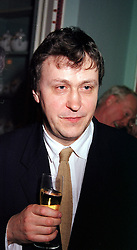 ADRIAN NOBLE artistic director of the RSC at a party <br /> in London on 27th April 2000. ODC 37
