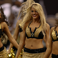 August 21, 2010; New Orleans, LA, USA; New Orleans Saints Saintsations cheerleaders perform during the second half of a 38-20 win by the New Orleans Saints over the Houston Texans during a preseason game at the Louisiana Superdome. Mandatory Credit: Derick E. Hingle