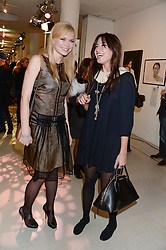 Left to right, KATIA ELIZAROVA and DAISY LOWE at the Macmillan De'Longhi Art Auction 2013 held at the Royal College of Art, London on 23rd September 2013.