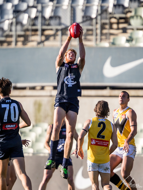 Saturday 17 June 2017<br /> <br /> 2017 Peter Jackson VFL Season<br /> Round 9<br /> <br /> Northern Blues vs Werribee Tigers <br /> Ikon Park<br /> <br /> #PJVFL #WeMarchNorth<br /> <br /> Photo Credit: Tim Murdoch/Tim Murdoch Photography