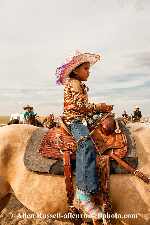 Rocky Boy Rodeo, kids,Indians, Martay Rosette, Chippewa Cree, Rocky Boy Reservation, Montana