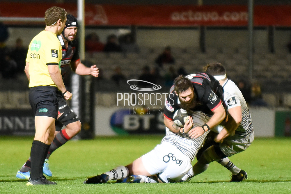 Cornell Du Preez won man of the match in the Guinness Pro 14 2017_18 match between Edinburgh Rugby and Ospreys at Myreside Stadium, Edinburgh, Scotland on 4 November 2017. Photo by Kevin Murray.