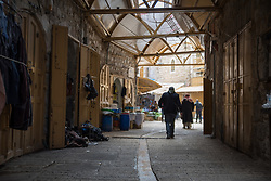 2 March 2020, Hebron: People walk through the Old City, Hebron.