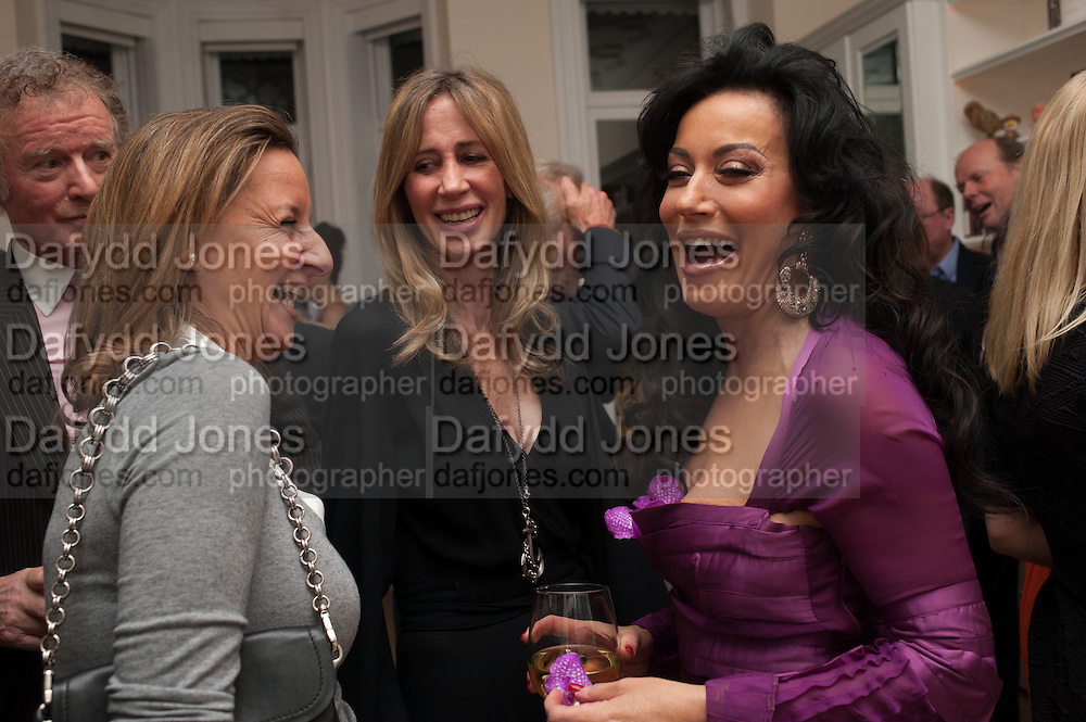CINDY LASS; MICHELLE YOUNG; NANCY DELL D'OLIO, Drinks party given by Basia and Richard Briggs,  Chelsea. London. SW3. 13 February 2014.