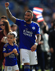 Leicester City's Danny Simpson after the final whistle during the Premier League match at the King Power Stadium, Leicester.