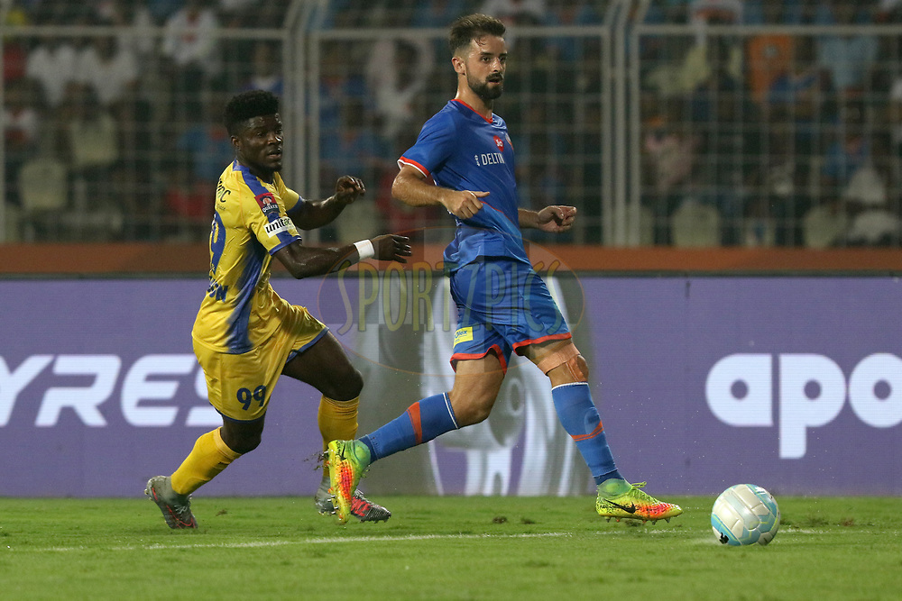 Bruno Filipe Tavares Pinheiro of FC Goa  in action during match 20 of the Hero Indian Super League between FC Goa and Kerala Blasters FC held at the Jawaharlal Nehru Stadium, Goa, India on the 9th December 2017<br /> <br /> Photo by: Faheem Hussain / ISL / SPORTZPICS