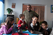 = La Courneuve , cite of 4000.  Marchand Family, Valerie , Nordine Taraoui and their five children are living in the same area since their birth, Eugene Henri More, ( Black)  is working for the city controled by , comunist and socialist  Paris  France + /// = La Courneuve, cite des 4000 , La famille Marchand valerie et Nordine  Taraoui et leurs cinq enfants. Eugene Henri More adjoint au maire   Paris  France +
