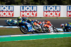 October 28, 2018 - Phillip Island, VIC, U.S. - PHILLIP ISLAND, VIC - OCTOBER 28: Team Suzuki Ecstar rider Andrea Iannone (29) at The 2018 Australian MotoGP on October 28, 2018, at The Phillip Island Circuit in Victoria, Australia. (Photo by Speed Media/Icon Sportswire) (Credit Image: © Steven Markham/Icon SMI via ZUMA Press)