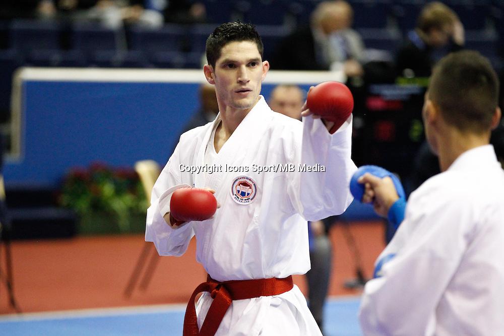 Geoffrey BERENS - 24.01.2015 - Open de Paris - Karate Premier League -<br />Photo : Johnny Fidelin / Icon Sport