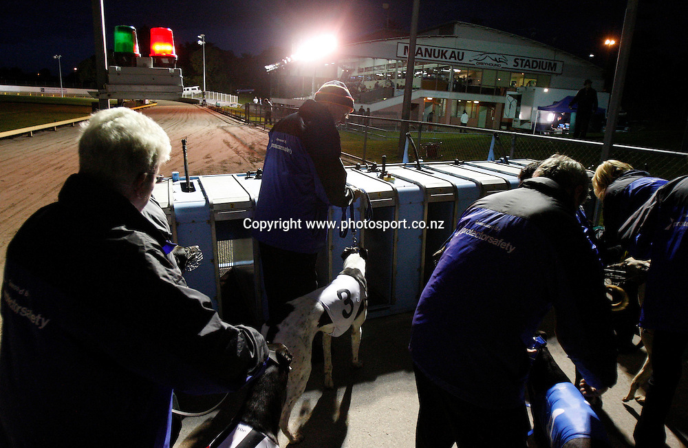 Auckland Greyhound Racing Club Inc. Manakau Stadium, Auckland, New Zealand. Sunday 7 June 2009. Photo: Andrew Cornaga/PHOTOSPORT