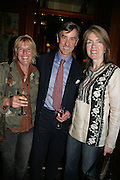 hon Georgiana Crofton, Col Peter Hunter and Lois Cox, PJ's Annual Polo Party . Annual Pre-Polo party that celebrates the start of the 2007 Polo season.  PJ's Bar & Grill, 52 Fulham Road, London, SW3. 14 May 2007. <br /> -DO NOT ARCHIVE-© Copyright Photograph by Dafydd Jones. 248 Clapham Rd. London SW9 0PZ. Tel 0207 820 0771. www.dafjones.com.