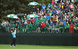 April 7, 2018 - Augusta, GA, USA - Rory Mcllroy on the 16th tee during the third round of the Masters Tournament on Saturday, April 7, 2018, at Augusta National Golf Club in Augusta, Ga. (Credit Image: © Jason Getz/TNS via ZUMA Wire)