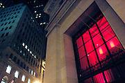 USA New York Manhattan Wall Street aus der Serie Night Vision Nacht Nachtaufnahme