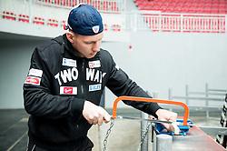 Miha Stebih during first meeting of Slovenian Ice Hockey National Team for IIHF World Championships Ostrava 2015, on April 5, 2015 in Arena Podmezakla, Jesenice, Slovenia. Photo by Vid Ponikvar / Sportida
