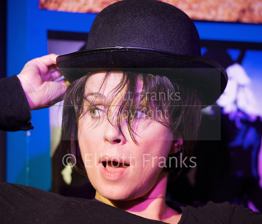 Touched...like a Virgin <br /> a new play by Zoe Lewis <br /> directed by James Phillips<br /> with Sadie Frost as Lesley <br /> <br /> and vocalist Dave Wickenden<br /> <br /> at The Soho Theatre downstairs, London, Great Britain <br /> press photocall 22nd May 2012 <br /> <br /> Sadie Frost <br /> (as Lesley)<br /> <br /> <br /> Photograph by Elliott Franks