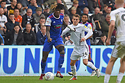 Ipswich Town defender Trevoh Chalobah (6) on loan from Chesea, battles with Swansea City midfielder Tom Carroll (14) during the EFL Sky Bet Championship match between Swansea City and Ipswich Town at the Liberty Stadium, Swansea, Wales on 6 October 2018.