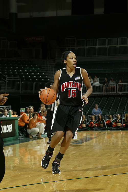 University of Maryland forward Laura Harper in action during the Terrapins 111-53 victory over the Miami Hurricanes on January 10, 2007 at the BankUnited Center in Coral Gables, Florida.