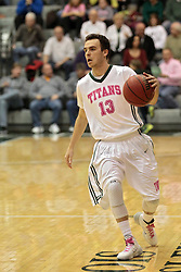 08 February 2014:  Bryce Dolan during an NCAA mens division 3 CCIW basketball game between the Elmhurst Bluejays and the Illinois Wesleyan Titans in Shirk Center, Bloomington IL
