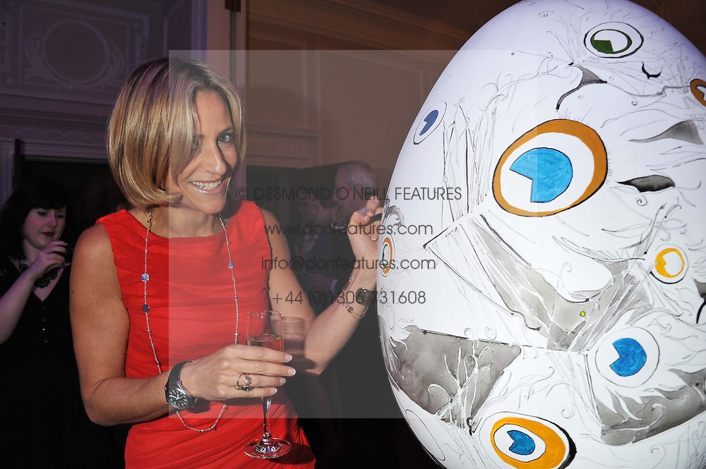 EMILY MAITLIS at a champagne reception to launch The Big Egg Hunt presented by Faberge in aid of the charities Action for Children and Elephant Family held at 29 Portland Place, London on 18th January 2012.
