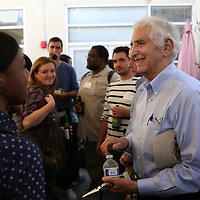 Government whistleblower Daniel Ellsberg speaks with students at the UC Berkeley Graduate School of Journalism during the first week orientation for incoming students at North Gate Hall in Berkeley, California, on Wednesday, August 27, 2014. Ellsberg, who is most famous for his role in the Pentagon Papers ordeal, interacted with students about such topics as freedom of the press, whistleblowers Eric Snowden and Chelsea Manning, and the responsibilities and ethical morals of reporters and other members of the media. (AP Photo/Alex Menendez)