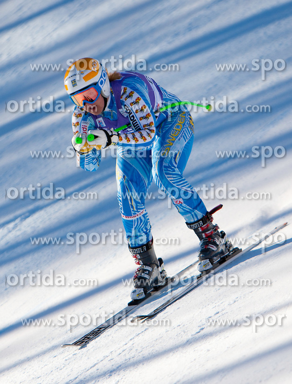 13.01.2012, Pista Olympia delle Tofane, Cortina, ITA, FIS Weltcup Ski Alpin, Damen, Abfahrt, 2. Training, im Bild Anja Paerson (SWE) // Anja Paerson of Sweden during ladies downhill 2nd training of FIS Ski Alpine World Cup at 'Pista Olympia delle Tofane' course in Cortina, Italy on 2012/01/13. EXPA Pictures © 2012, PhotoCredit: EXPA/ Johann Groder