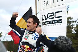 15.02.2015,  Karlstad, SWE, FIA, WRC, Schweden Rallye, im Bild Julien Ingrassia (Volkswagen Motorsport/Polo R WRC) // during the WRC Sweden Rallye at the Karlstad in Karlstad, Sweden on 2015/02/15. EXPA Pictures © 2015, PhotoCredit: EXPA/ Eibner-Pressefoto/ Bermel<br /> <br /> *****ATTENTION - OUT of GER*****