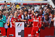 Sebastian Vettel of Scuderia Ferrari takes second place in the Spanish Formula One Grand Prix at Circuit de Catalunya, Barcelona<br /> Picture by EXPA Pictures/Focus Images Ltd 07814482222<br /> 14/05/2017<br /> *** UK &amp; IRELAND ONLY ***<br /> <br /> EXPA-EIB-170514-0109.jpg