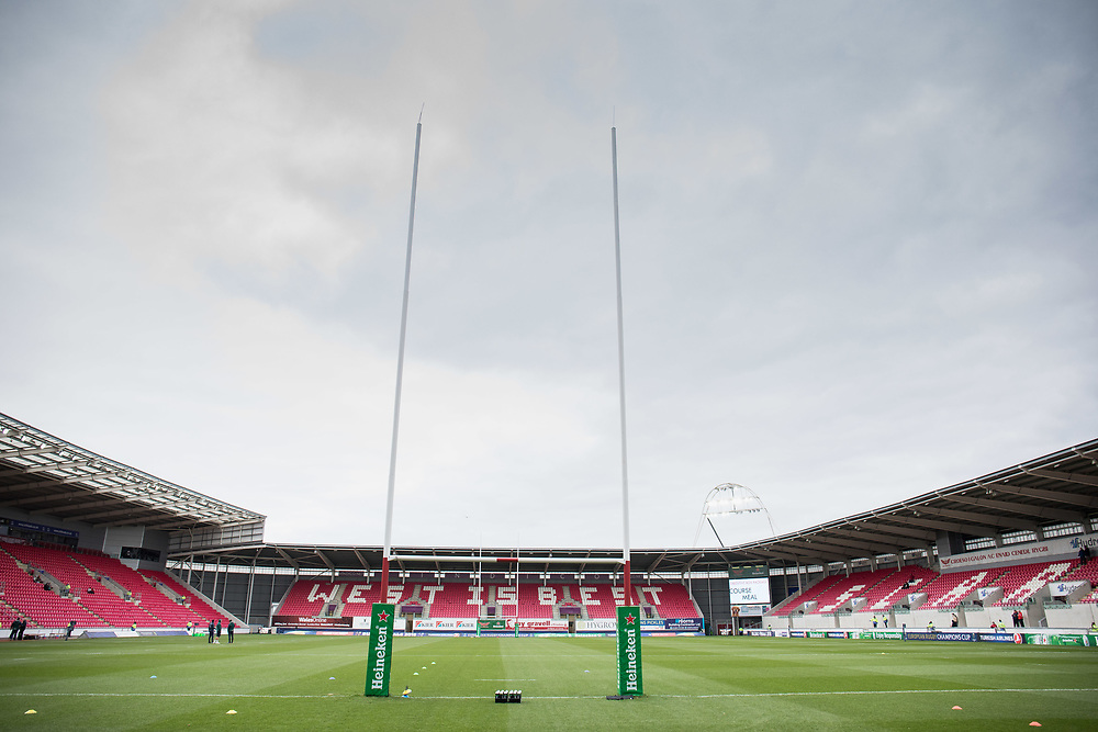 A general view of Parc Y Scarlets, home of Scarlets<br /> <br /> Photographer Simon King/Replay Images<br /> <br /> EPCR Champions Cup Round 3 - Scarlets v Benetton Rugby - Saturday 9th December 2017 - Parc y Scarlets - Llanelli<br /> <br /> World Copyright © 2017 Replay Images. All rights reserved. info@replayimages.co.uk - www.replayimages.co.uk