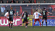 Picture by David Horn/Focus Images Ltd +44 7545 970036.16/03/2013.Dani Lopez of Stevenage scores his and his side's second goal during the npower League 1 match at the Lamex Stadium, Stevenage.
