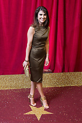 © Licensed to London News Pictures . 16/05/2015 .  The Palace Hotel , Manchester , UK . GILLIAN KEARNEY . The red carpet at the 2015 British Soap Awards , The Palace Hotel , Oxford Road , Manchester . Photo credit : Joel Goodman/LNP