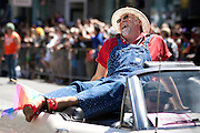 Gilbert Baker, reciepent of the Pride Founder's Award shows off his best pumps at the San Francisco Pride Parade on June 24, 2012