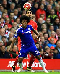 Willian of Chelsea in action - Mandatory byline: Matt McNulty/JMP - 11/05/2016 - FOOTBALL - Anfield - Liverpool, England - Liverpool v Chelsea - Barclays Premier League