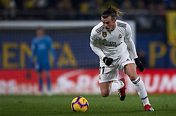 January 3, 2019 - Villarreal, Castellon, Spain - Gareth Bale of Real Madrid controls the ball during the week 17 of La Liga match between Villarreal CF and Real Madrid at Ceramica Stadium in Villarreal, Spain on January 3 2019. (Credit Image: © Jose Breton/NurPhoto via ZUMA Press)