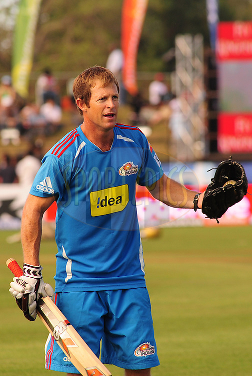 EAST LONDON, SOUTH AFRICA - 1 May 2009. Jonty Rhodes during the  IPL Season 2 match between the Mumbai Indians and the Kolkata Knight Riders held at Buffalo Park in East London. South Africa...