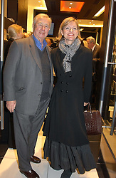 "SIR TERENCE & LADY CONRAN at a party to celebrate the opening of the new Mont Blanc store at 151 Sloane Street, London on 9th March 2005.  The evening was held in conjunction with UNICEF's ""Sign up for the right to write"" campaign which is raising money though the sale of celebraties 'statements' currently for auction on the ebay website.<br />