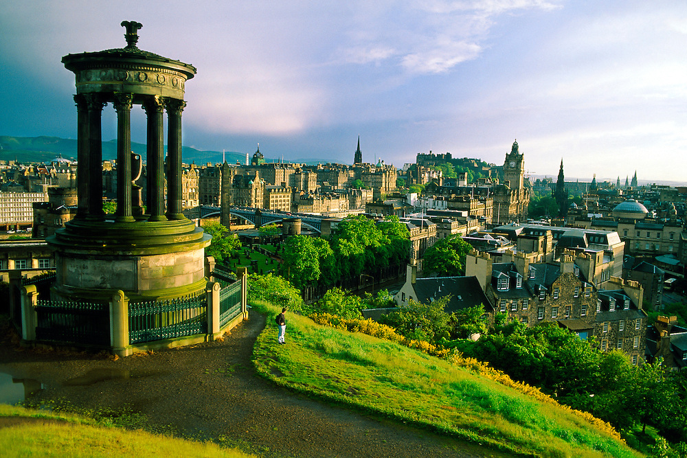 View from Calton Hill, Edinburgh, Scotland
