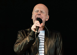 © Licensed to London News Pictures. 06/06/2015. London, UK.   Phil Selway performing live at Field Day Festival Saturday Day 1.   Phil Selway is an English musician, singer, and songwriter best known as the drummer of English rock group Radiohead.  He has produced two solo albums.  Photo credit : Richard Isaac/LNP